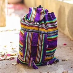 Vintage hippie bag, mexican backpack pinzon, beach bag, ethnic ...