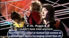 Rod Stewart sings 'Maggie May', 1971