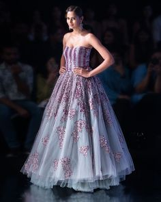 Reception Gowns: Buy Designer Gowns for Reception Online - Kalki Fashion Designer Gowns, Designer Wear, Indian Dresses, Indian Outfits, Beige Cocktail Dresses, Fashion Advisor, Wedding Gowns Online, Reception Gown, Drape Gowns