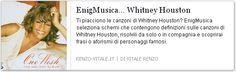 Canzoni di #Whitney #Houston inserite come definizioni in schema enigmistico e cruciverba