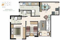 Resultado de imagem para apartamento 2 quartos