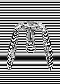 Mirror fidu stool