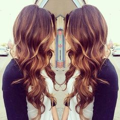 Gorgeous brown hair with highlights
