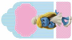 Smurfs: Free Printable Candy Bar Labels, for Girls Party. Candy Bar Labels, Princesas Disney, Disney Movies, Christening, Pavlova, Invitation Cards, Free Printables, Minnie Mouse, Disney Princess