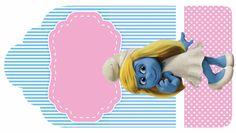 Pitufos: Etiquetas para Candy Bar, para Fiesta de Niña, para Imprimir Graits.