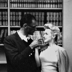Arthur Miller and Marilyn celebrate their Civil Wedding on June 29th 1956.