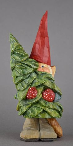 Introducing Tore, one of the sturdier gnomes living in Bergen, Norway. He is known for his ability to climb the steep cliffs of the fjord and carry down all the Christmas trees the village needs without losing a needle. This clever guy accomplishes it by grabbing the tree around the