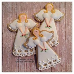 "6 Likes, 1 Comments - New Orleans Cookie Company (@neworleanscookiecompany) on Instagram: ""Christmas Angel Cookies #decoratedcookies #decoratedsugarcookies #designercookies #angels…"""