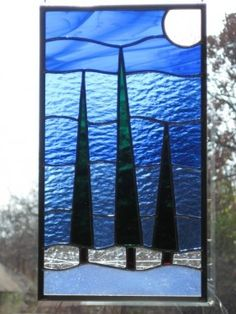Stained Glass Panel Trees Listen to the Calm by DianeRinebold – Verre et de vitrailes Stained Glass Quilt, Custom Stained Glass, Faux Stained Glass, Stained Glass Designs, Stained Glass Projects, Stained Glass Patterns, Leaded Glass, Stained Glass Windows, Mosaic Glass