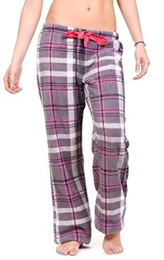 Women's Sleepwear - Totally Pink Womens Warm and Cozy Plush PajamaLounge Pants * For more information, visit image link.