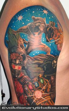 Marvel's Guardians of the Galaxy fan-art tattoo!