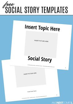 Looking for a social story template? Check out these free social story templates! Social Stories Autism, Social Skills Autism, Teaching Social Skills, Teaching Aids, Social Skills Activities, Autism Activities, Autism Resources, Personal Space Social Story, Autism Parenting