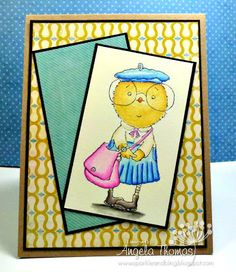 Card I made using image from Stamping Bella called Mimi the Chick
