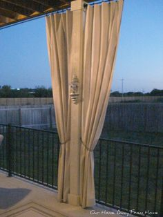 drop cloth out door curtains
