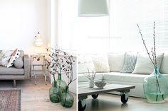 Ideas para decorar con damajuanas
