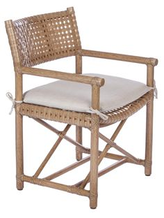 Mcguire-furniture-laced-rawhide-arm-chair-lm-45-furniture-dining-room-traditional