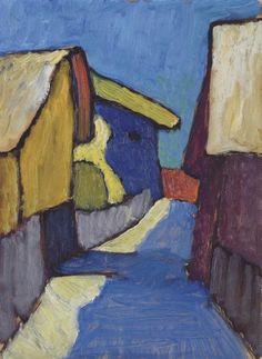 Paul Klee — artist-munter: Dorfstrasse in Blau, Gabriele...