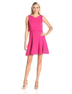 Taylor Dresses Womens Textured Knit Popover Dress Raspberry 10 * Want additional info? Click on the image.
