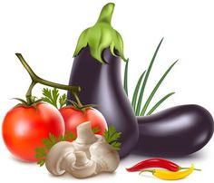 Vector Fresh Vegetables and Fruits