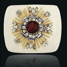 Maltese Cross Motif with Paste Gems, Verdura for Chanel.