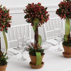 Christmas Centerpiece for Weddings  Fairy Berries strung