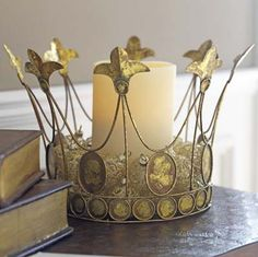 Crown centerpiece on pinterest princess party for Christmas crown decoration