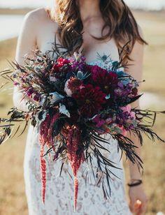 Texas Goes Boho with Rich Hues for this Inspired Wedding cranberry dahlia bouquet. Plum Wedding Flowers, Burgundy Wedding, Boho Wedding, Floral Wedding, Wedding Colors, Fall Wedding, Dream Wedding, Wedding Shoes, Dahlia Wedding Bouquets