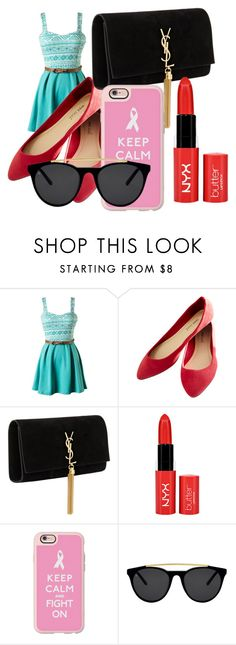 """""""Untitled #4"""" by hemillydias ❤ liked on Polyvore featuring Wet Seal, Yves Saint Laurent, Casetify and Smoke & Mirrors"""