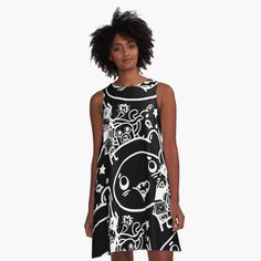 'Finn and Friends' A-Line Dress by Adventure Time Merchandise, Adventure Time Art, Sumi Ink, I Dress, Party Time, Designer Dresses, Shirt Designs, Design Inspiration, Printed