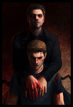 His Red Right Hand by NaSyu.deviantart.com on @DeviantArt | Lucifer!Cas | Supernatural