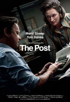 The Post. Steven Spielberg, Tom Hanks and Meryl Streep team for the first time in this exhilarating true story about how the Washington Post exposed a massive cover-up of government secrets that spanned three decades. 2018 Movies, Hd Movies, Movies To Watch, Movies Online, Movies And Tv Shows, Movie Tv, Movies Free, Tom Hanks, Meryl Streep