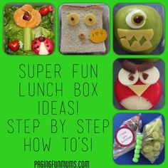 Super Fun Lunch Box Ideas - Love the angry bird! Lunch Box Recipes, Lunch Snacks, Lunch Ideas, Kid Snacks, Box Lunches, School Lunches, Whats For Lunch, Lunch To Go, Lunch Time