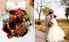 love this bouquet but in different color combo. succulents, texture, rich color