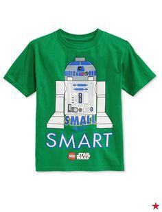 96954479f7 Star Wars Little Boys  Small But Smart R2-D2 LEGO T-Shirt Kids - Shirts    Tees - Macy s