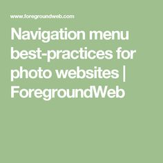 Navigation menu best-practices for photo websites   ForegroundWeb