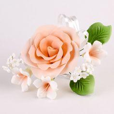 Variety of readymade gumpaste sugarflower sprays cake toppers perfect for cake decorating rolled fondant wedding cakes and fondant cakes. | CaljavaOnline.com #caljava #sugarflower #rose