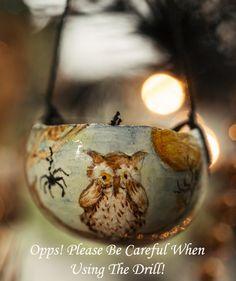 DIY: Halloween Gourd Owl Ornament