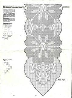 """Kira scheme crochet: Scheme crochet no."", ""Anna Crochet Hungari added a new photo — with Rose Marie Navacchia and Milanka Stevan Filet Crochet, Crochet Diagram, Crochet Chart, Thread Crochet, Crochet Stitches, Crochet Table Runner Pattern, Crochet Doily Patterns, Crochet Borders, Crochet Tablecloth"