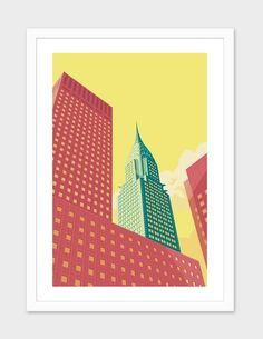 """""""Chrysler Building NYC"""", Numbered Edition Fine Art Print by Remko Heemskerk - From $25.00 - Curioos"""