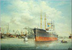 Werk van Henk v.d..Veer. ss Aldebaran van Nievelt Goudriaan Rotterdam