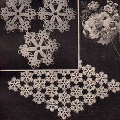 Tatted Snowflake Doily from The Workbasket. Volume 18, May 1953