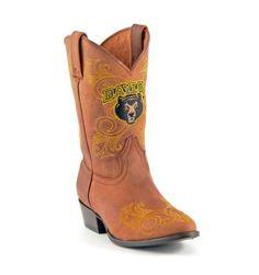 Girls Baylor boots #allensboots #cowboyboots #gamedayboots #Baylor #kids