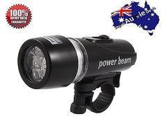 Waterproof 5 LED Bike Bicycle Front Head Light Power Beam Torch Lamp