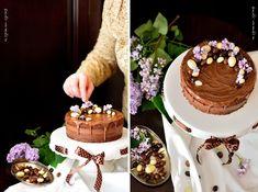 Tort Duo Chocolat Food Photo, Cake, Desserts, Tailgate Desserts, Deserts, Kuchen, Postres, Dessert, Torte