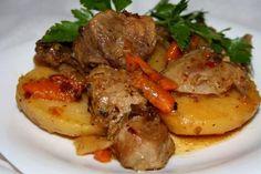 Ковурдок - мясо жареное, залитое салом   Четыре вкуса