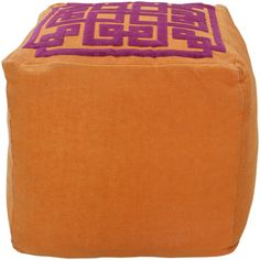 "Decorate your home with Beth Lacefield Diamond Accent Pouf is super-functional and adds style and dimension to any room | $224 | 18"" x 18"" x 18"" 