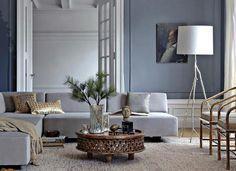 Contemporary gray living room design