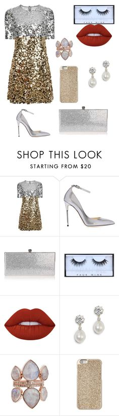 """Untitled #288"" by catarina-de-sousa-lopes on Polyvore featuring Dolce&Gabbana, Jimmy Choo, Huda Beauty, Lime Crime and Michael Kors"