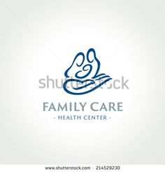 Family care medical health center symbol, icon, logo template - stock vector