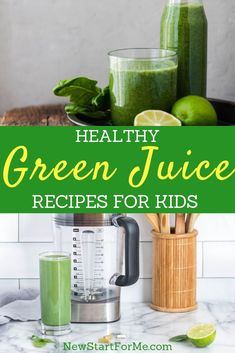 Introduce your kids to a healthier snack or juice with green juice recipes for kids that will give them real vitamins and minerals. Freezer Smoothie Packs, Smoothie Prep, Healthy Smoothies, Healthy Drinks, Healthy Snacks, Smoothie Recipes, Juice Recipes For Kids, Green Juice Recipes, Lunch Recipes